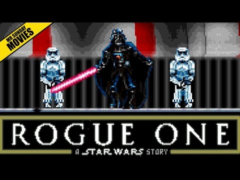 The Final Scene of Rogue One A Star Wars Story as a Retro 16Bit Video