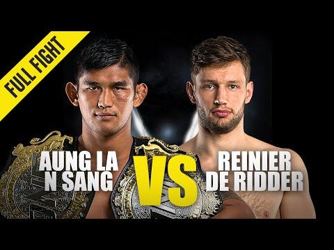 Aung La N Sang vs. Reinier De Ridder | ONE Championship Full Fight