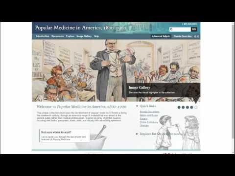 Product Overview Webinar: Popular Medicine in America, 1800-1900