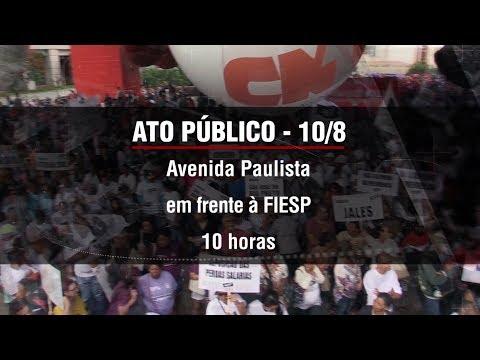 Ato público - Dia do Basta! 10 de agosto - Avenida Paulista