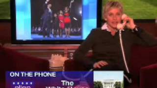 Video Ellen Calls Obama On Presidents Day February 16 2009 MP3, 3GP, MP4, WEBM, AVI, FLV Maret 2019