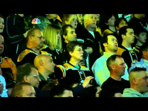 National - Boston Bruins fans throughout TD Garden sing the American National Anthem. #BostonStrong #WeAreBoston.