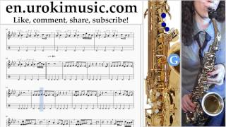 http://en.urokimusic.com/ How to Play Saxophone (Tenor) Tove Lo - Lies In The Dark Tabs Part # 2 um-i352 Please write in the comments, how to make lessons mo...