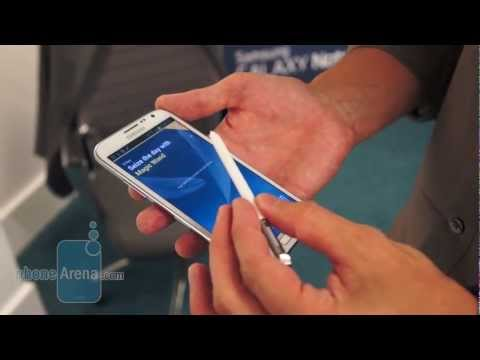 Samsung Galaxy Note II S-Pen Demonstration