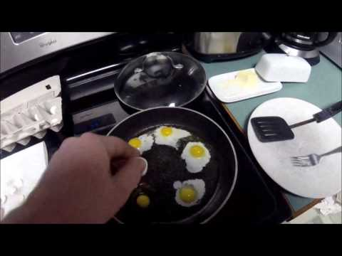 Pan Fried Quail Eggs
