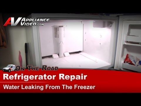 Kenmore Refrigerator Repair – Water leaking from the freezer – 10677292790
