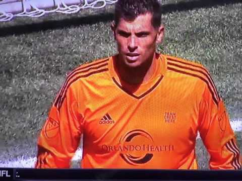 Orlando City keeper Tally Hall had a farcical detail missing from his shirt v Seattle