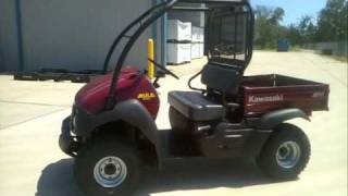 10. Overview and Review: 2012 Kawasaki Mule 610 4X4 Dark Royal Red Utility Vehicle