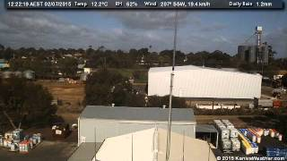 2 July 2015 - South Facing WeatherCam Timelapse