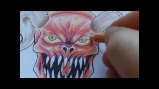 Video How To Draw A Satan Tattoo MP3, 3GP, MP4, WEBM, AVI, FLV Juni 2018