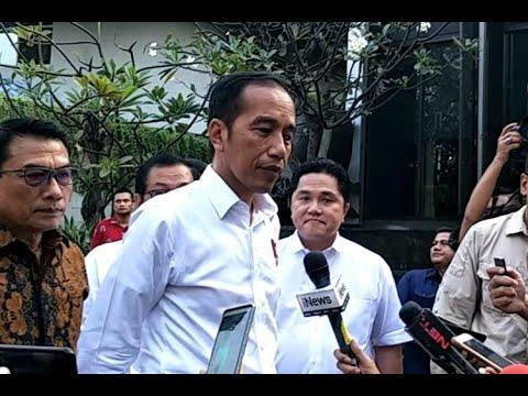 Bersama Pramono Anung, Erick Thohir, dan Wishnutama, Joko Widodo Tiba di Lokasi Pembubaran TKN