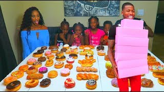68 Donuts In 15 Min Family Challenge