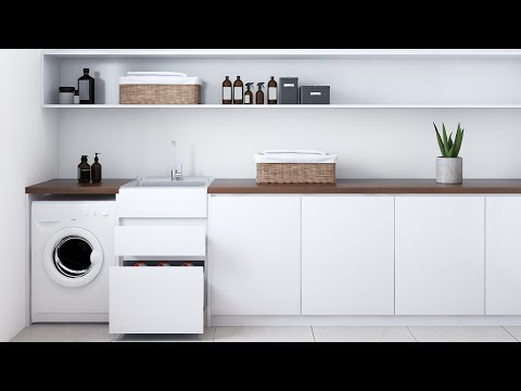 Nugleam Laundry Unit Drawer Installation & Removal Video