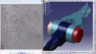 Catia V5 Tutorial|Product Engineering Design|How to Create Knuckle Joint(Easy Steps Beginners)|P8