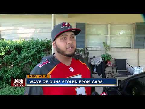 Wave of guns stolen from cars