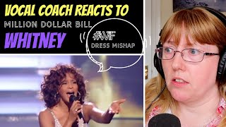 Skype - Vocal Coach Reacts to Whitney Houston 'Million Dollar Bill' LIVE - What happened to the dress? #wtf