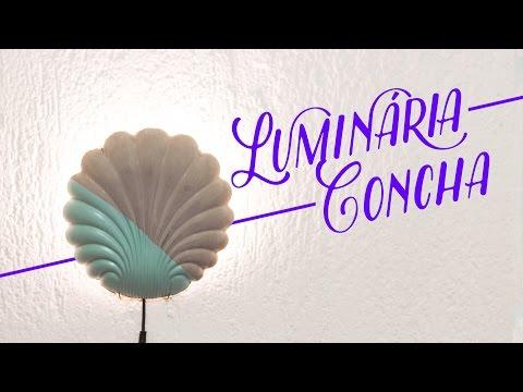 Luminária em forma de concha
