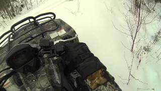 10. 2015 Kingquad 500 playing in the snow