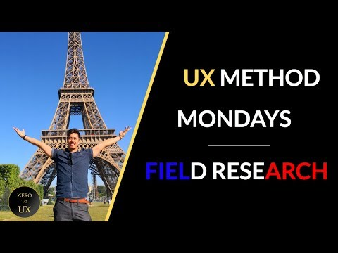 How to Conduct Field Research | UX Method Mondays | Zero to UX