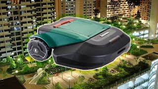 Roof garden and robotic lawn mower Robomow RS615