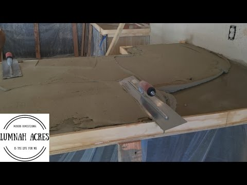 How to Pour a CONCRETE COUNTERTOP  Over an Existing Countertop