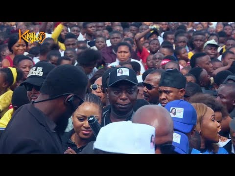 Mammoth Crowd  Welcome Regina Daniels, Her Lovely  Husband &  Mother  At Children's Day Carnival