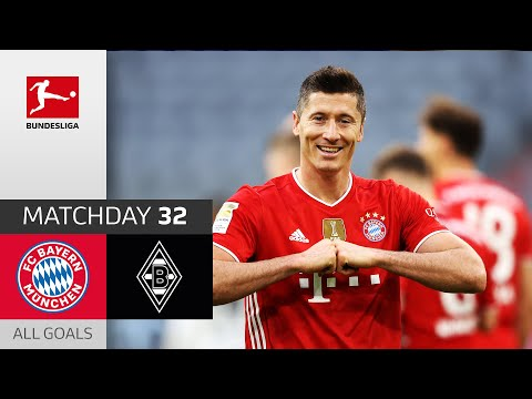 39 Goals! Hat-Trick for Lewandowski | FC Bayern München - Borussia M'gladbach | 6-0 | All Goals