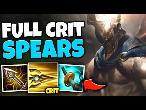 WTF?! THROW LITERAL NUKES WITH FULL CRIT PANTHEON! (Q ONE SHOTS) - League of Legends