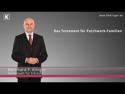 Testament-Ratgeber für Patchwork-Familien