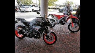 1. Time for a new bike! I test ride the new 2019 honda crf450L and 2019 yamaha mt10