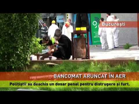 Bancomat aruncat în aer, la o agenție bancară din București