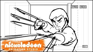 Take a look at the original storyboards from the iconic moment when two brothers became enemies.  The scene escalates to the first fight between Hamato Yoshi and Oroku Saki, aka Splinter and Shredder, seen side by side with the animatic and final animation!Subscribe for more awesome videos from Nickelodeon Animation! http://www.youtube.com/subscription_c...Visit Nick Animation around the web:Official Website: http://nickanimationstudio.com/Facebook: https://www.facebook.com/NickAnimationTumblr: http://nickanimationstudio.tumblr.com/Twitter: https://twitter.com/NickAnimationInstagram: https://instagram.com/nickanimation