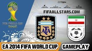 EA 2014 FIFA World Cup Argentina Vs Iran - FIFAALLSTARS.COM