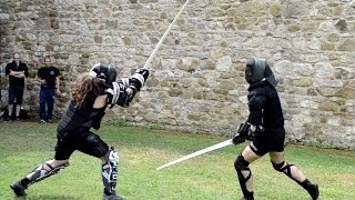 Video Two handed sword fighting - Free sparring MP3, 3GP, MP4, WEBM, AVI, FLV Juli 2018