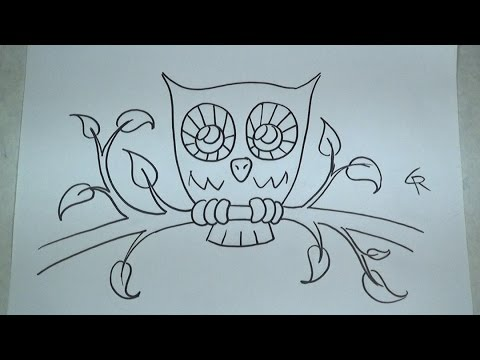 how to draw owls with pictures videos answermeup