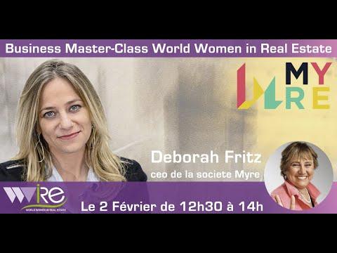 Teaser de la Business Master Class de Déborah Fritz CEO de MYRE