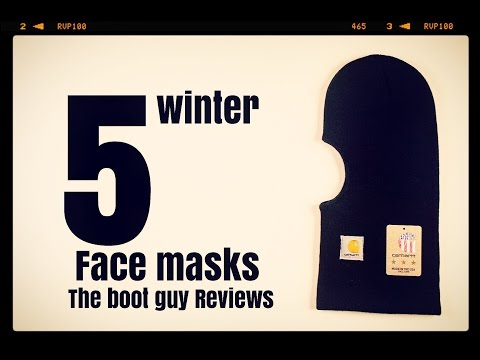 5 FACE MASKS for Winter [ The Boot Guy Reviews ]