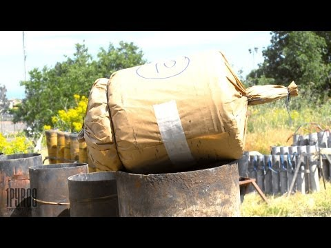 | HD | Fireworks-Setup | Huge Italian Cylinder and lots of singleshots!