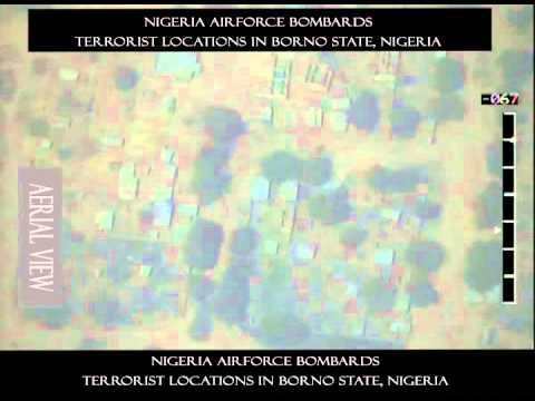 PRNigeria Video: Nigerian Air Force Bombs Terrorists' Hideouts