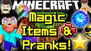 Minecraft MAGIC ITEMS&PRANKS! Useful Tools, Tricks&More!