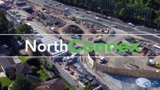 Aerial drone construction promotional video in Sydney with Hoverscape