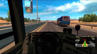 Bus trip from Flagstaff to Los Angeles with a Volvo 9800