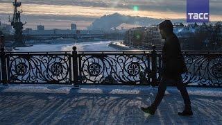 Морозное утро: первая рабочая неделя в Москве началась при минус 27-29 °C