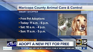 FREE pet adoptions at MCACC this weekend in honor of longtime kennel worker