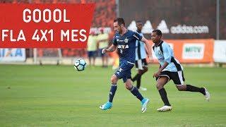 Mancuello, Felipe Vizeu e Adryan, duas vezes, marcaram os gols da vitória no jogo-treino contra o Mesquita no CT George Helal --------------- Seja sócio-torc...