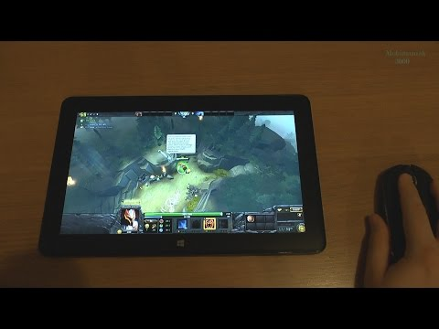 1# Dota 2 test on tablet Intel Core M-5Y71 new Dell Venue 11 Pro 7140