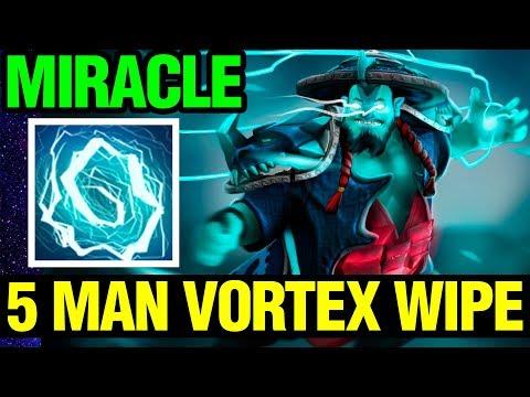 5 MAN VORTEX WIPE!! - Miracle- 7.11 Patch Dota 2 Plus - Dota 2