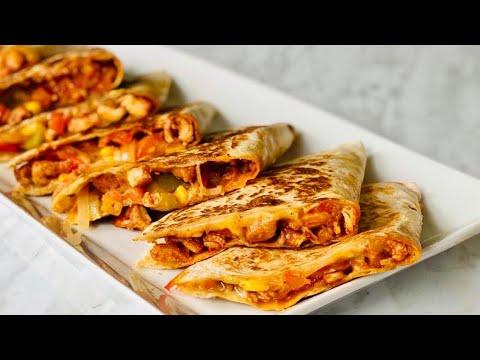 🌮 QUESADILLAS MEXICAINES AU POULET 🌮 recette très facile et rapide. Deli Cuisine
