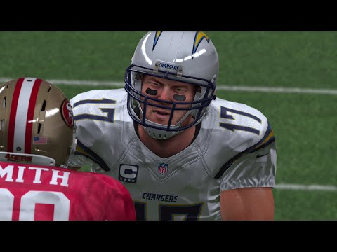 Must - Madden 15 Online Gameplay! Phillip Rivers and the banged up Chargers need to win this game against the 49ers to keep their playoff hopes alive. http://www.maddenturf.com --- check them out!!...