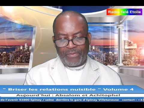 """Pasteur myco BATSHIKA dans """"Briser les relations nuisibles"""" Volume 4  Absalom et Achitophel"""